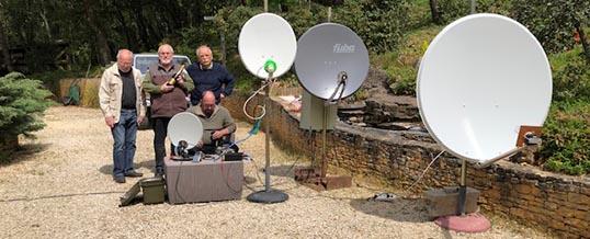 Réseau d'urgence satellitaire